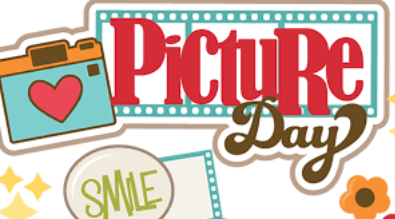 "Clipart reads ""Picture Day"" with a cartoon camera and the text ""smile"""