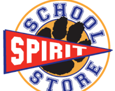 "Picture of a pawprint words read ""School Spirit Store"""