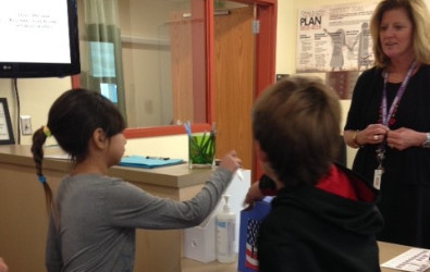 Picture of Students Voting