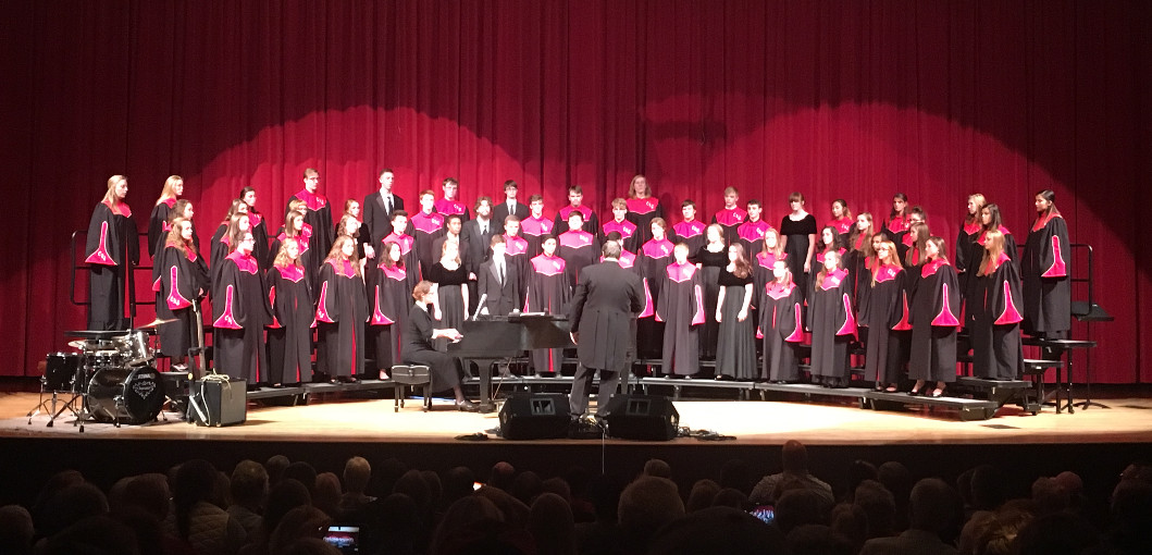 This is a picture of Central High Choir and LCCC Choir