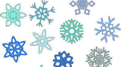 This is a picture of snow flakes.