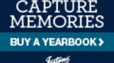 "This is a picture that says, ""Capture Memories buy a yearbook"" Jostens"