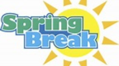 This is a picture of a sun with the words Spring Break on it.