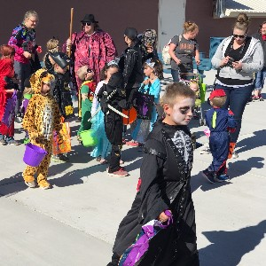 Students at Halloween Party