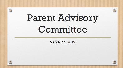 Parent Advisory document (PDF)