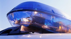 Photo of police blue lights.