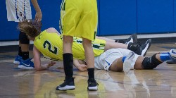 Lady governor's regional game against the Lady Hawks got physical at times.