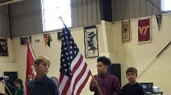 RRES students at Veterans Day Celebration