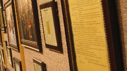 "Copy of the Declaration of Independance on the ""Liberty's Story"" Wall"