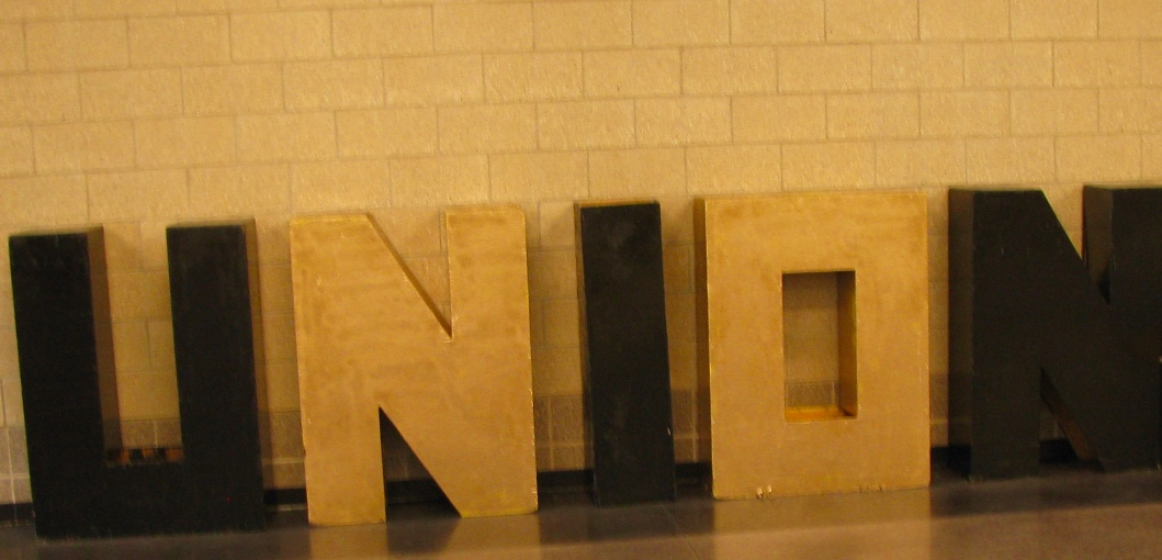Union Block Letters in the commons area