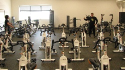 "Stationary bikes in the ""Fitness Lab"""
