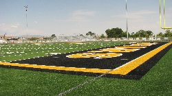 Football field end zone.