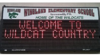 Welcome to Wingland Elementary Sign