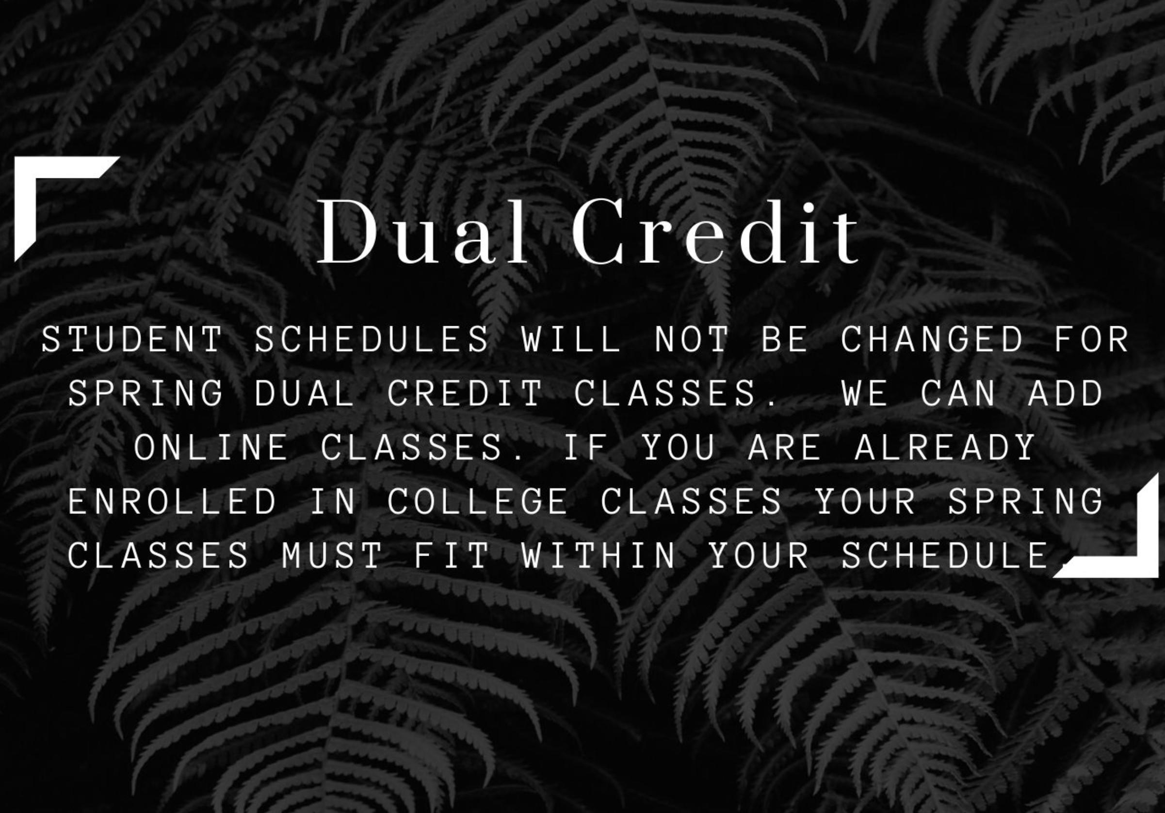 Concurrent Enrollment/Dual Credit