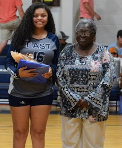 Caitlin Timmons and parents.  Jailah Smith and grandmother