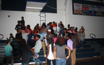 Middle/High School Students enjoying themselves as the dance