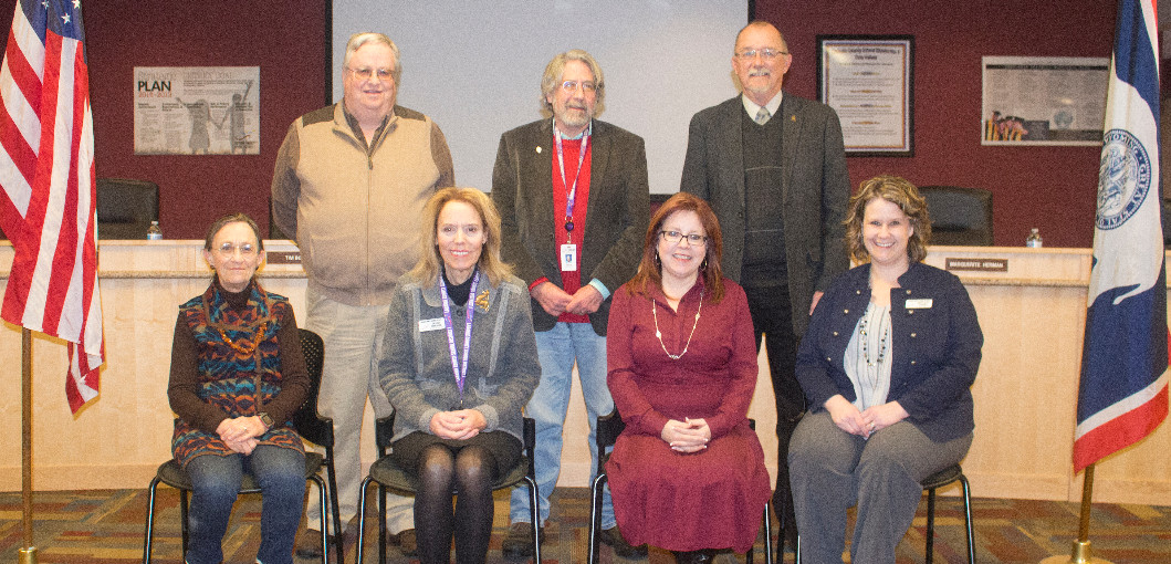 Group photo of the LCSD1 board of trustees.