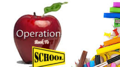 Graphic showing the Operation Back to School logo.