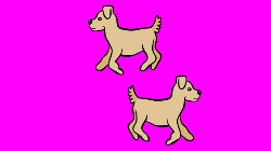 Cartoon of two dogs. Click for an educational website.