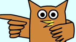 Cartoon of an owl. Click for an educational website.