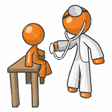 cartoon image of a Doctor and a child