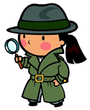 cartoon image of girl investigator