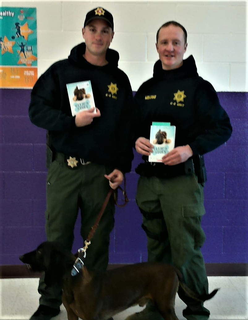 Photos of visiting the Cheyenne Police K9 unit that visited Baggs.