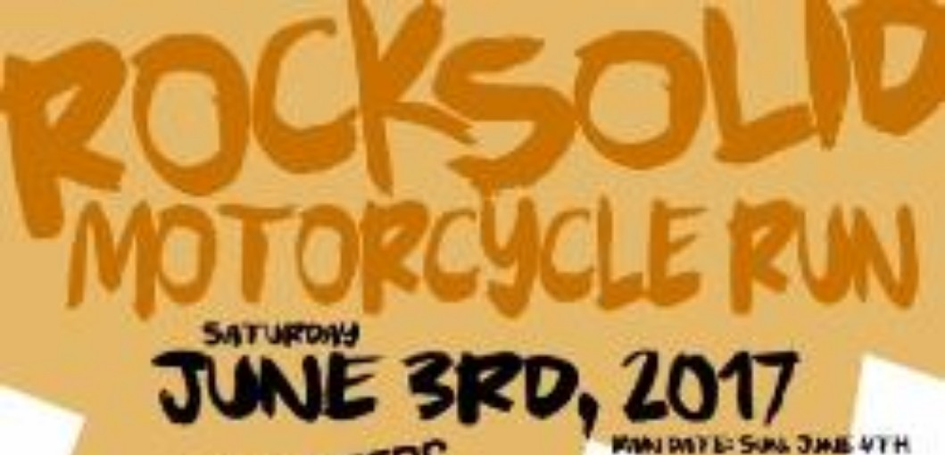 Rocksolid motorcycle run poster