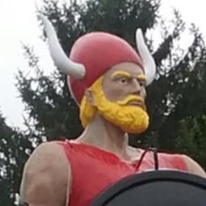 Bangor Vikings Mascot Statue