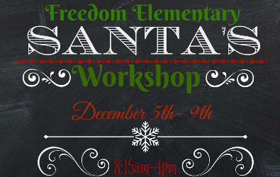 Graphic adversiting Santa's Workshop