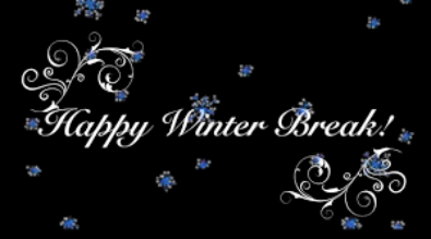 "Graphic ""Happy Winter Break"""