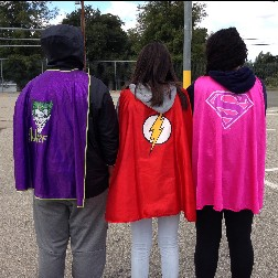 Students in capes