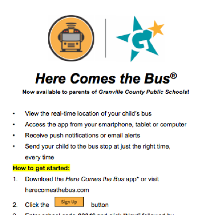 Here Comes the Bus!  Get the NEW Mobile App.