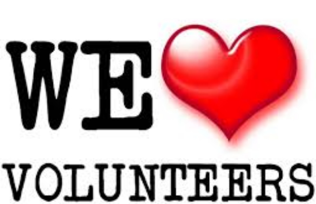 We love volunteers graphic