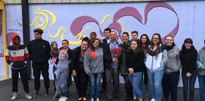 JF Webb Art Students Paint Massive Mural for Local Business