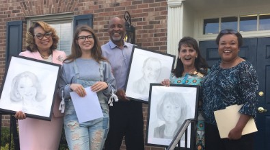 Student Portraits for Superintendent, Arts Director, JF Webb Principal