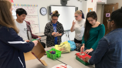 Students Pack Samaritans Purse Boxes