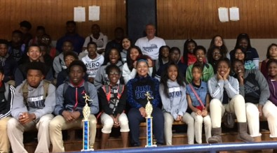 The BMS Boy's and Girl's Track Teams took