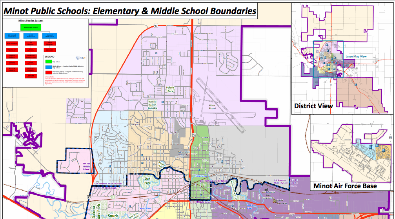 Boundary Map for Minot Public Schools