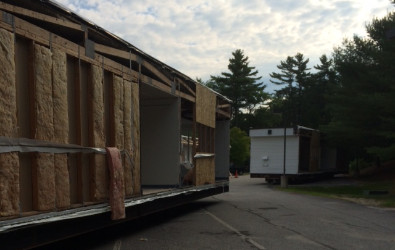 Songo Locks School Modular Building Arrival