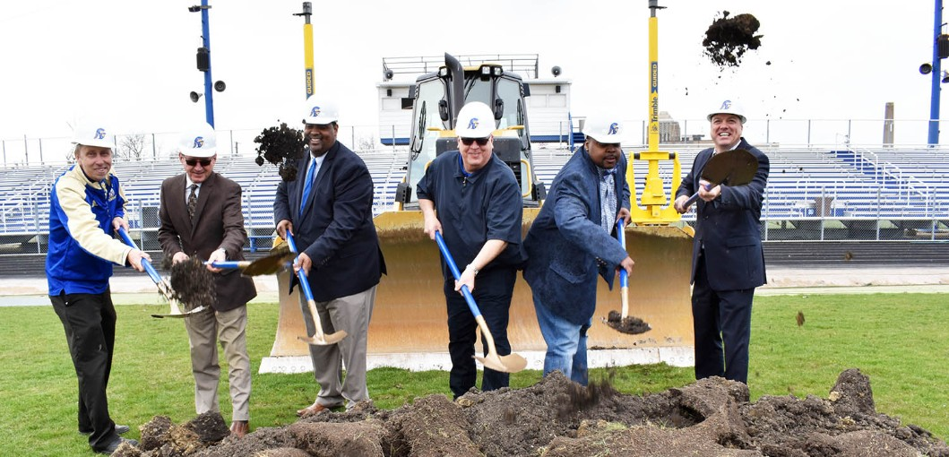 District Breaks Ground on Sarff Field Revitalization