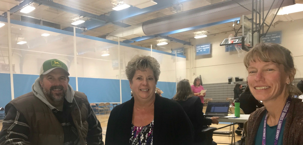 Photo at Parent-Teacher conferences Nov. 2, 2017
