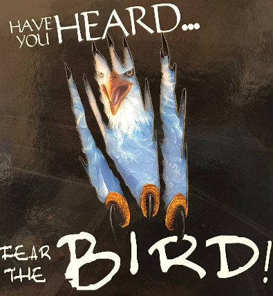 Picture of the cover of the award-winning 2015-16 Fear the Bird yearbook cover.