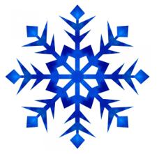 Blue Snowflake image.