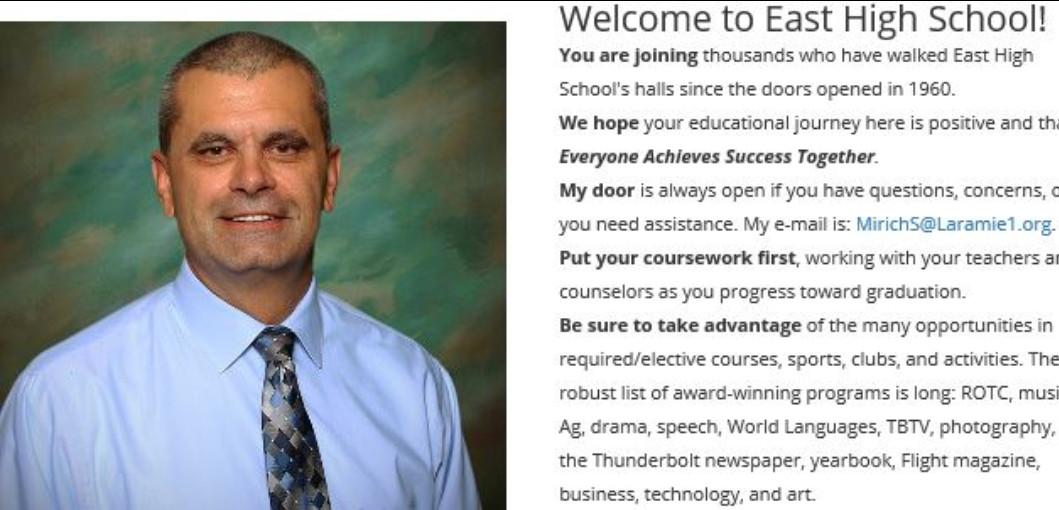Photo of the school principal
