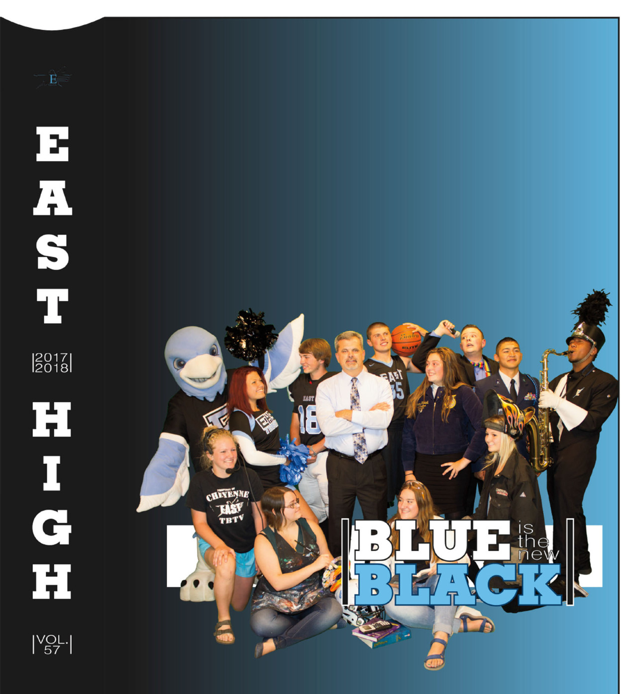 Picture of the cover of the award-winning 2017-18 yearbook cover.