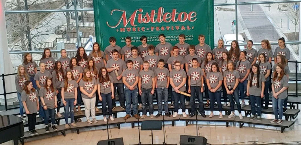 HS Chorus at the Mistletoe Music Festival in Indianapolis