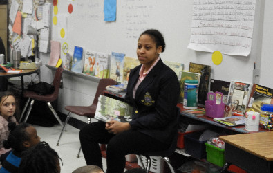 World Read Aloud Day at EB Morse with AVID, CAT, Ladies and Gentlemens Clubs - January 2018