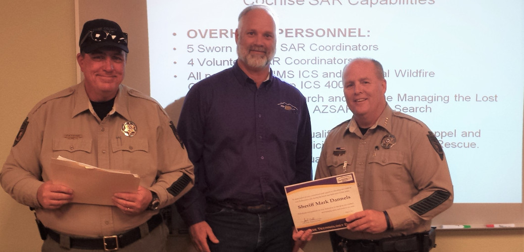 Deputy Hauser & Sheriff Dannels recognized