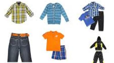 Cartoon of various clothing.